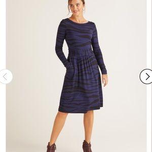 Boden Blue Abigail Jersey Dress with Pockets 8P